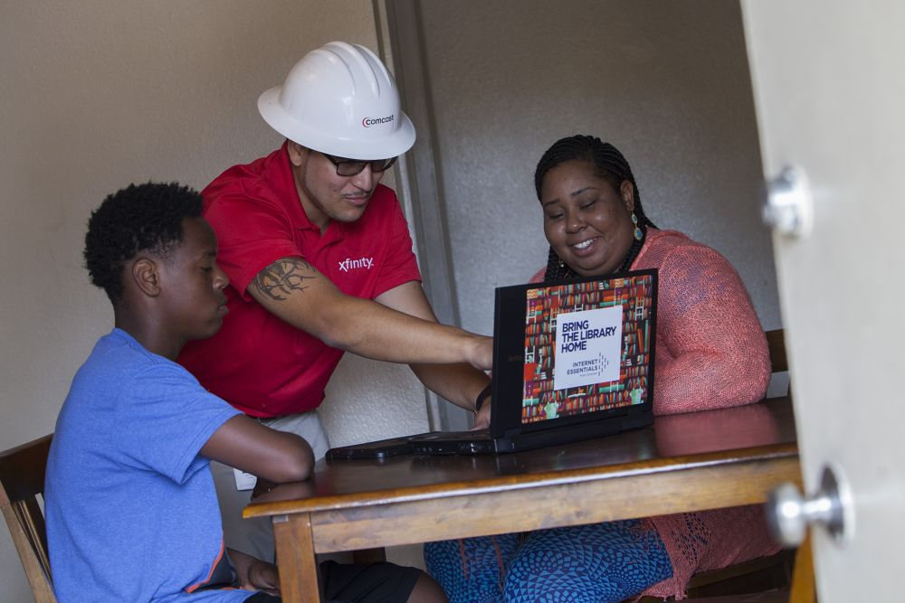 Comcast helps families get set up with Internet Essentials