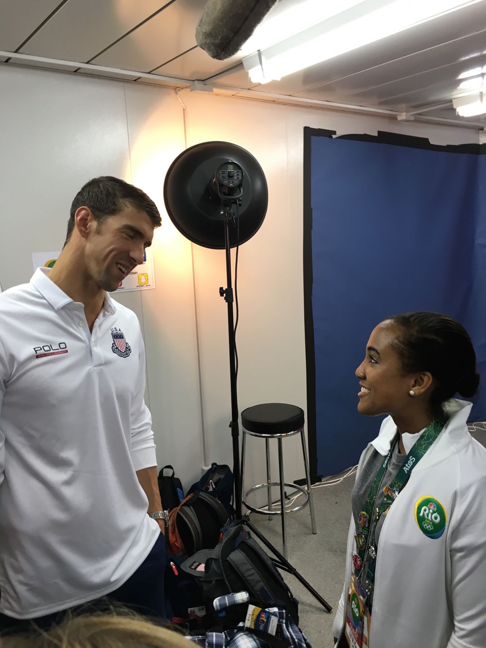 Whitney Stewart meets Michael Phelps