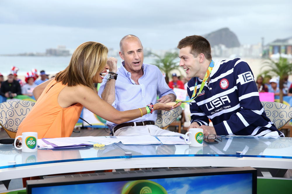 Hoda Kotb and Matt Lauer in Rio